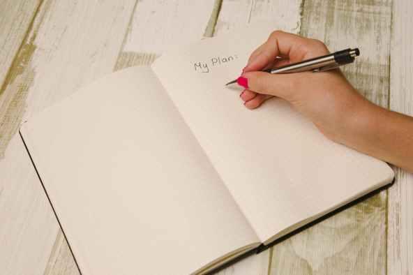 hand pen writing plant